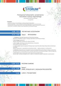 Program III Forum w Gryficach