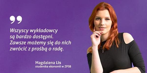 Magdalena Lis - studentka ekonomii w ZPSB Szczecin