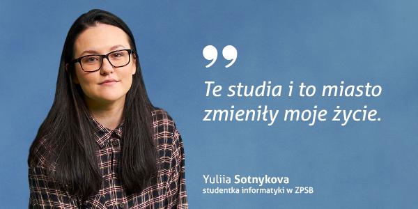 Yuliia Sotnykova - studentka informatyki ZPSB w Szczecinie