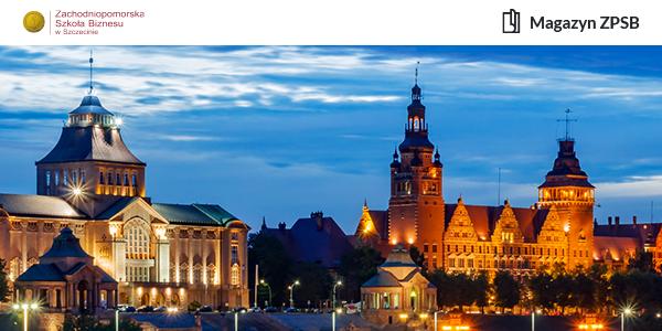 Bulwary w Szczecinie sfotografowane nocą